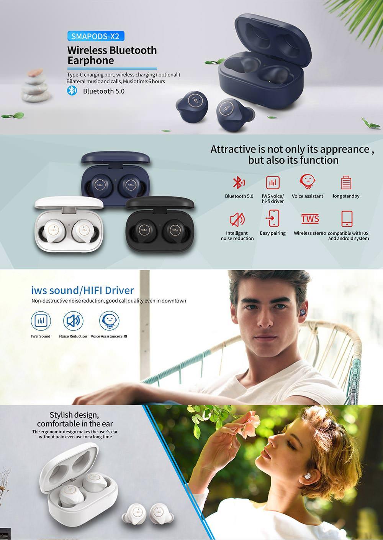 sma-x2 tws earphone