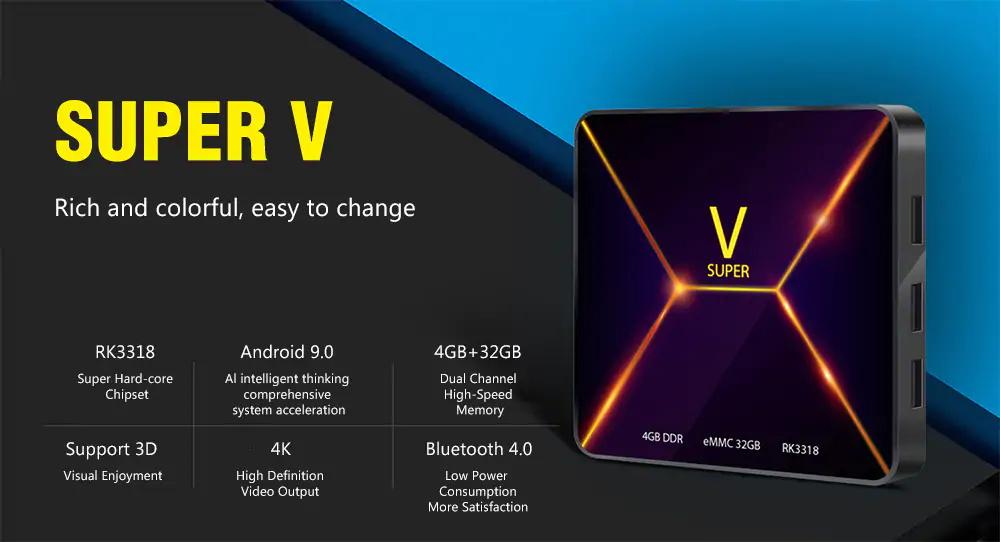 super v tv box 4gb 32gb