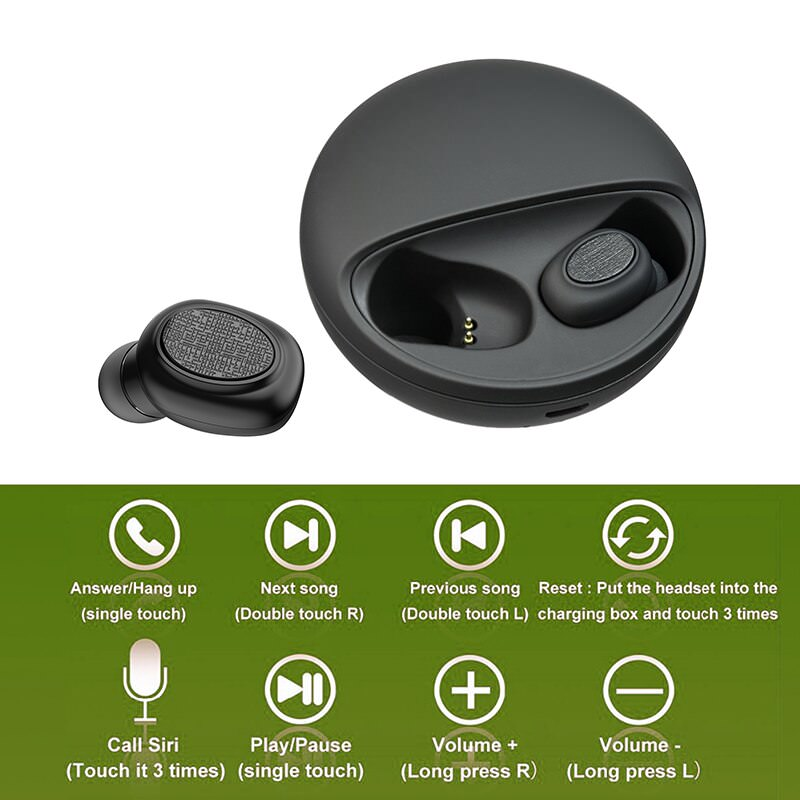 buy t1c tws mini dual v5.0 wireless headphone