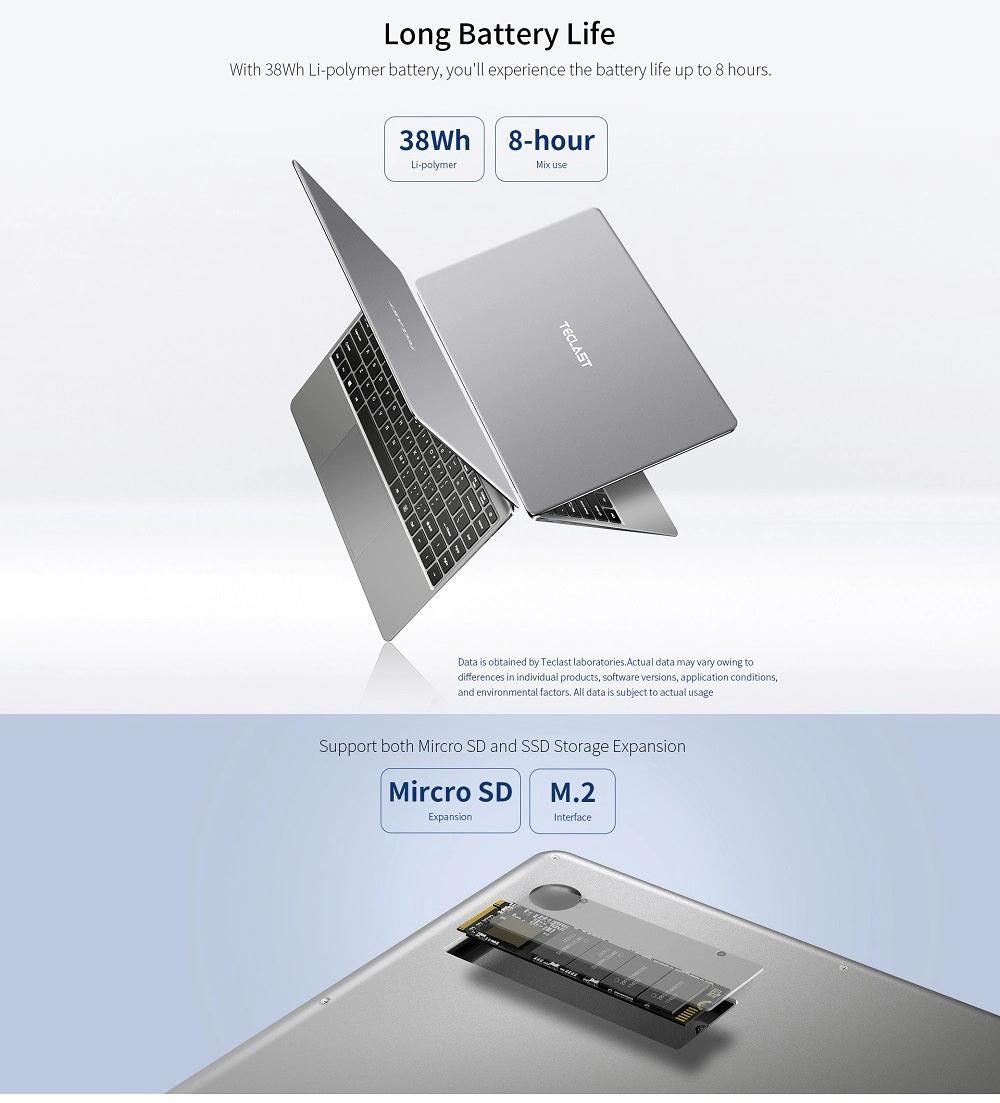 teclast f7 plus notebook 8gb 256gb for sale