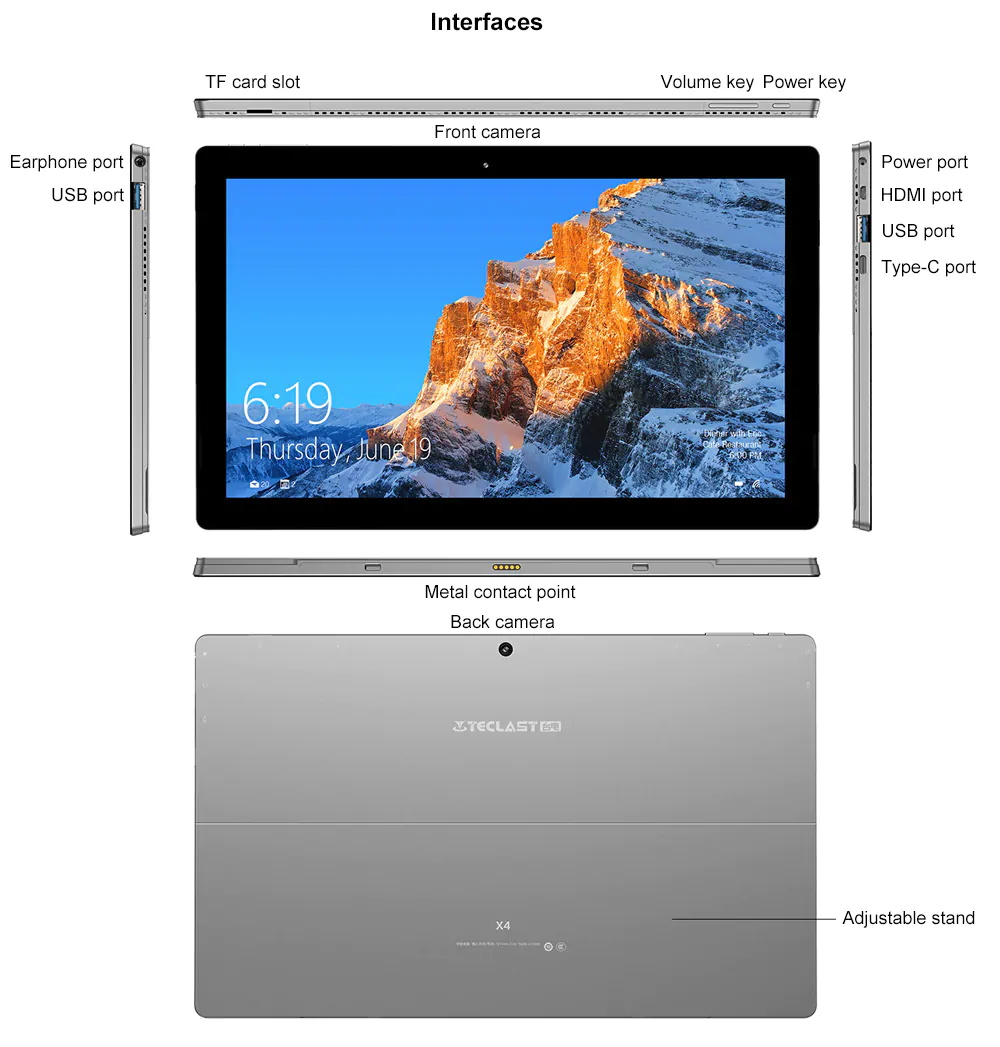 2019 teclast x4 tablet 8gb 128gb price