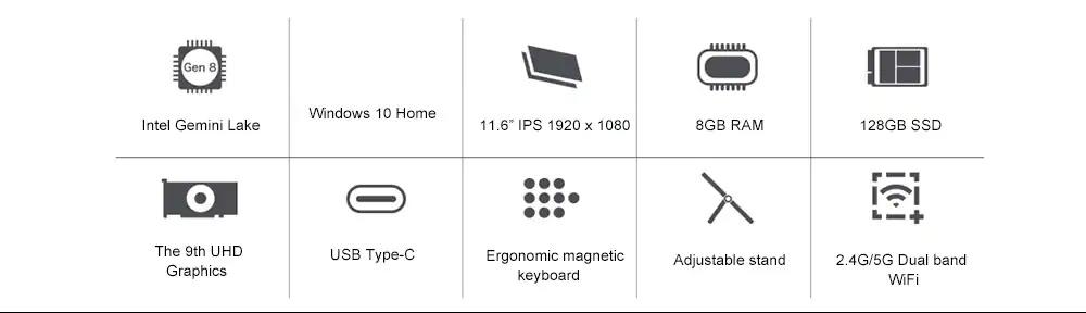 new teclast x4 tablet 8gb 128gb