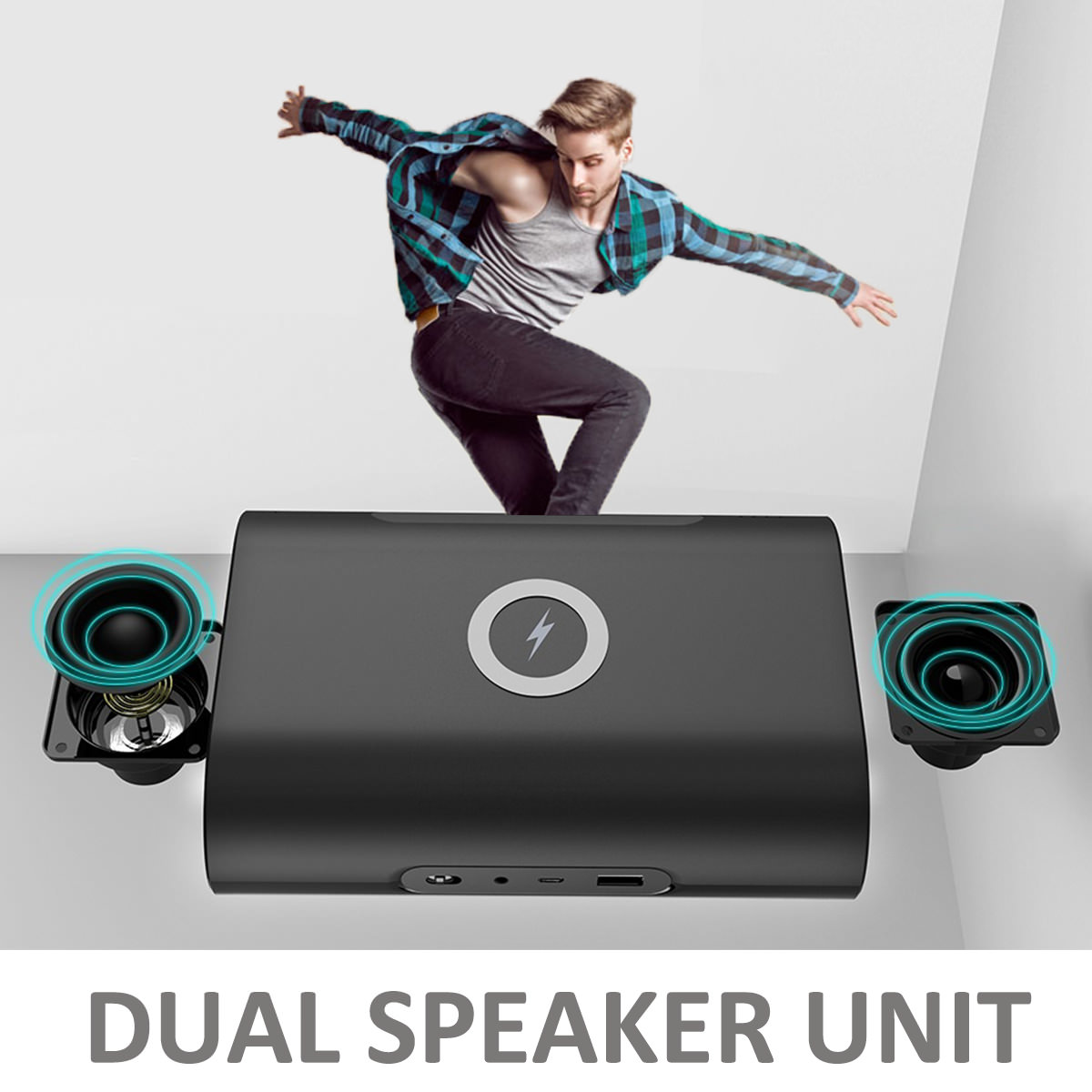 2019 3 in 1 portable wireless charger/bluetooth speaker/power bank