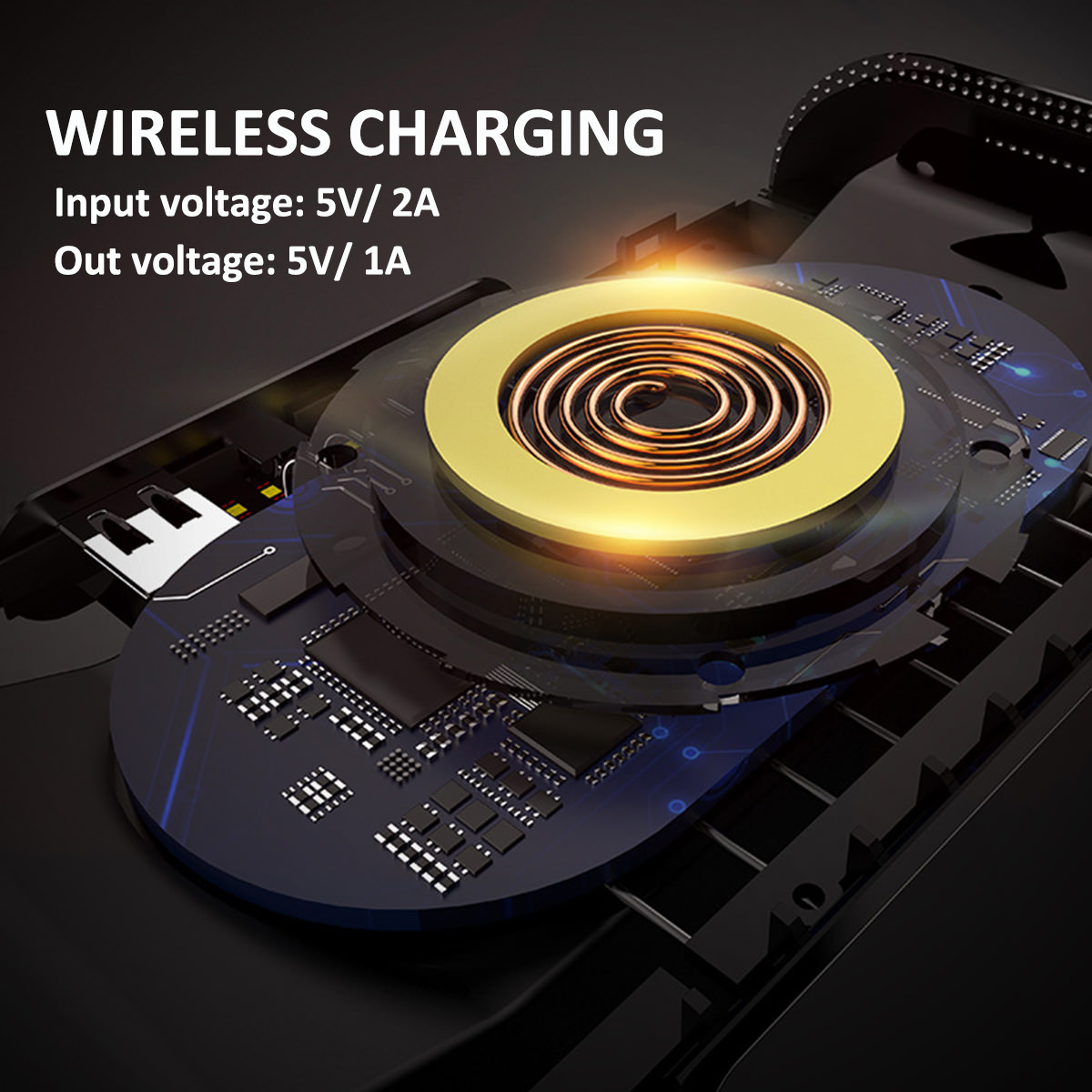3 in 1 portable wireless charger/bluetooth speaker/power bank for sale