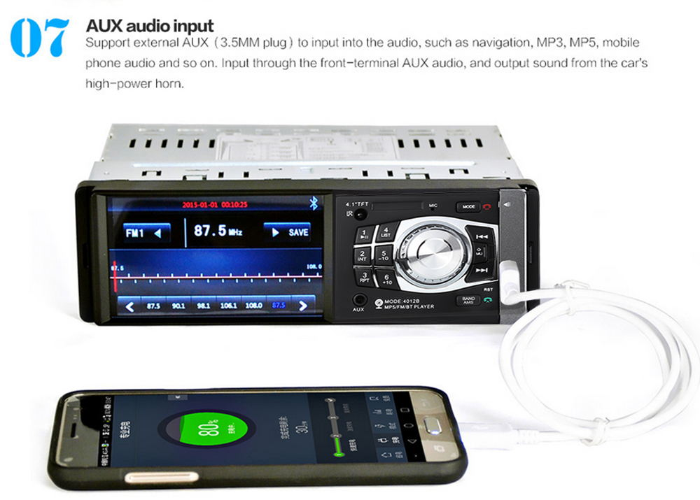2019 4012b car mp5 player