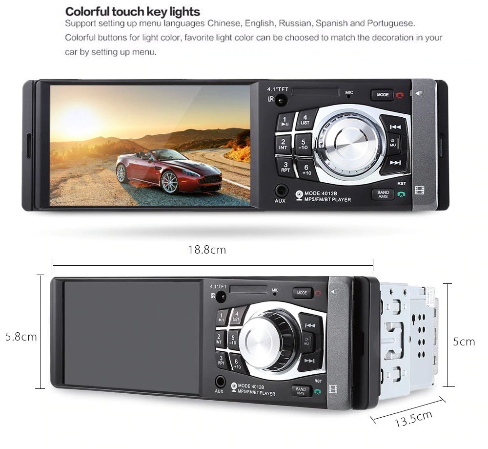 4012b 4.1inch car mp5 player