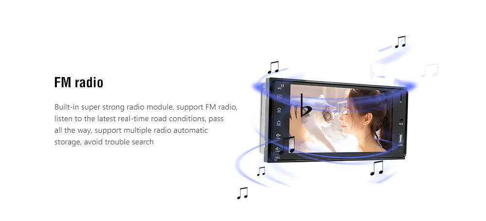 2019 7inch car mp5 player for toyota corolla