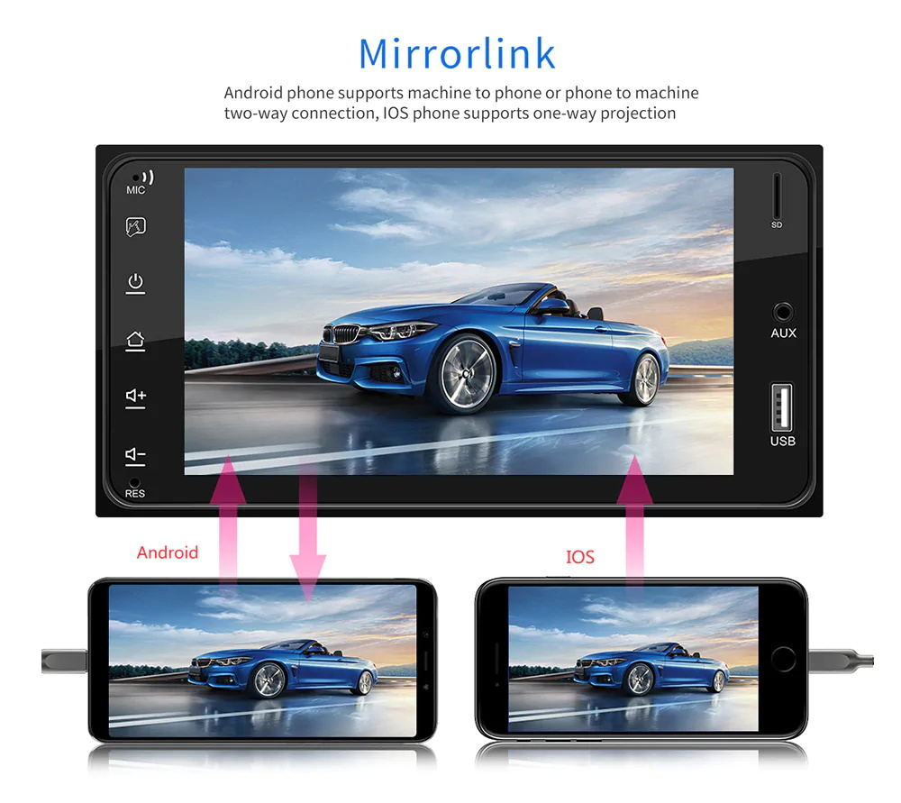 cheap 7inch car mp5 player for toyota corolla