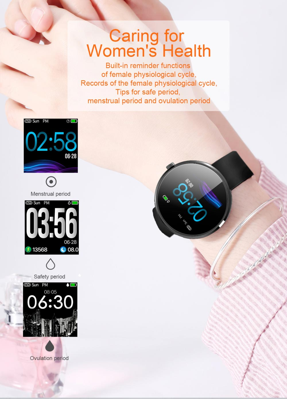 new b10 ip68 waterproof smartwatch