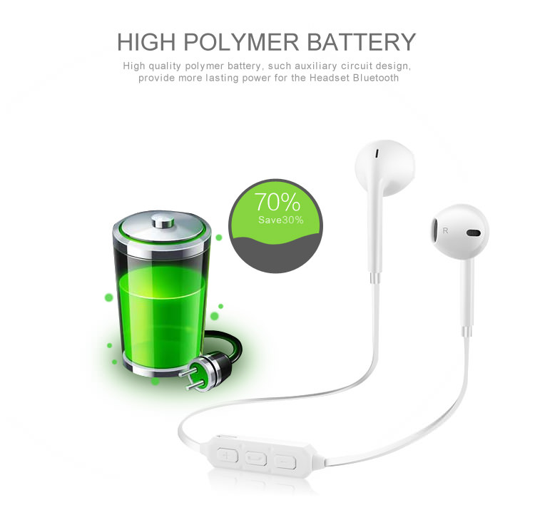 bt-66 bluetooth stereo earphones