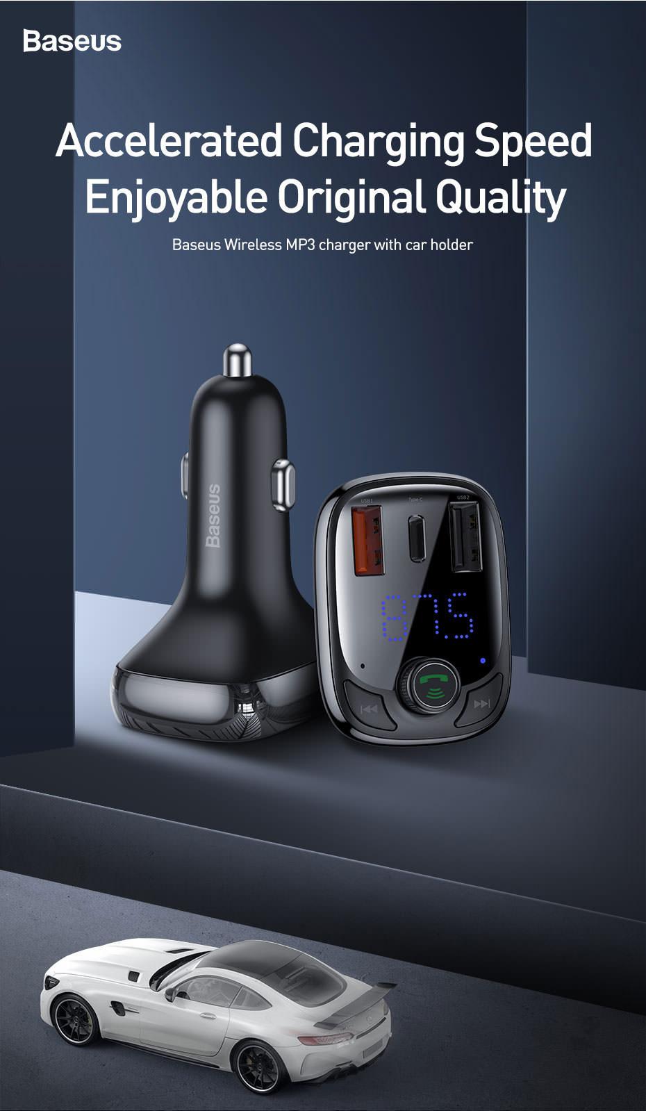 baseus bluetooth car charger