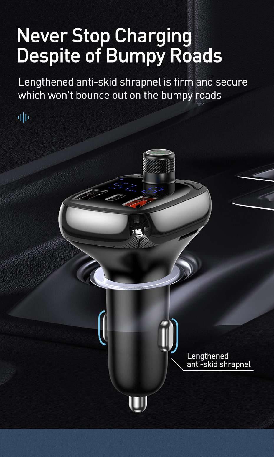 baseus dual usb bluetooth car charger price
