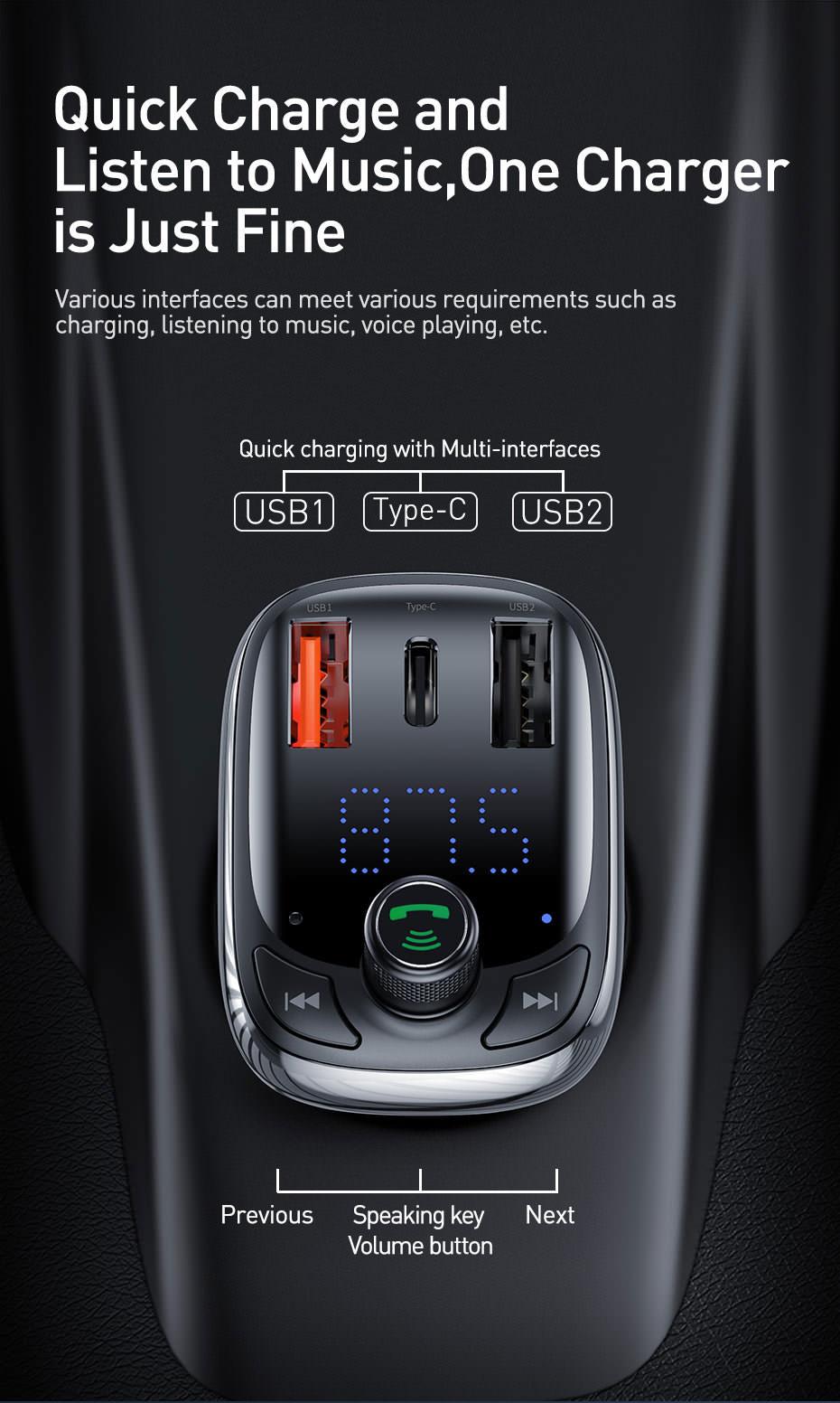 buy baseus bluetooth car charger