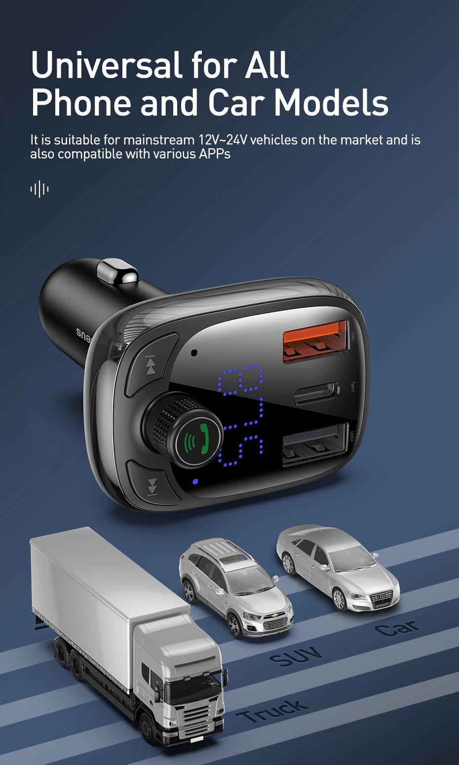 2019 baseus bluetooth car charger
