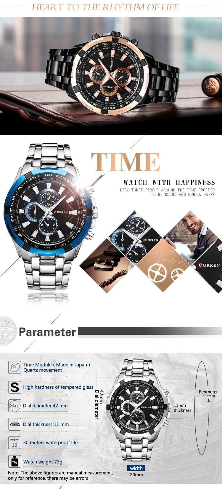 buy curren 8023 men quartz watch