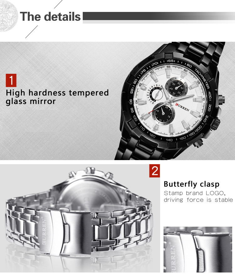 curren 8023 men quartz watch for sale