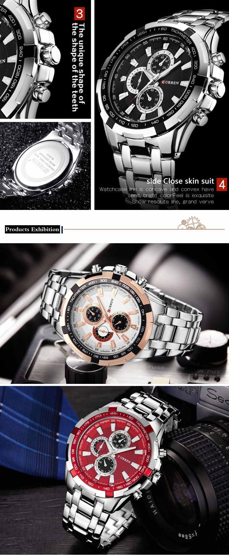 2019 curren 8023 men quartz watch