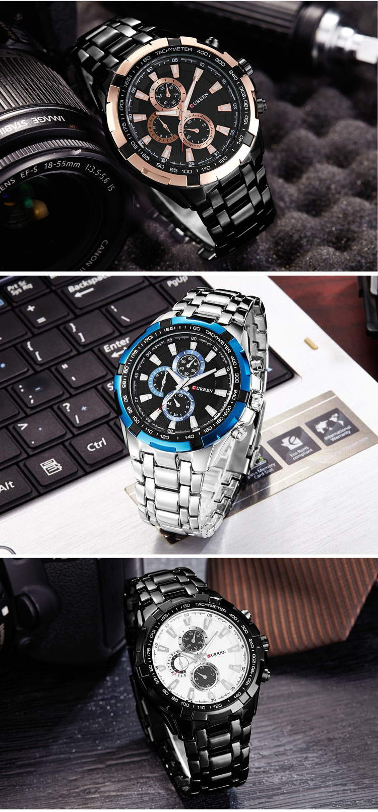 new curren 8023 men quartz watch