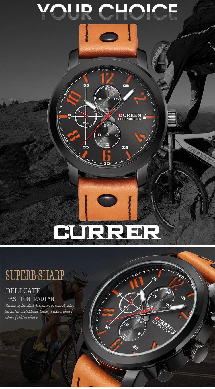 curren 8192 fashion quartz wrist watch