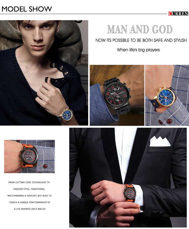 curren 8192 fashion quartz wrist watch for sale