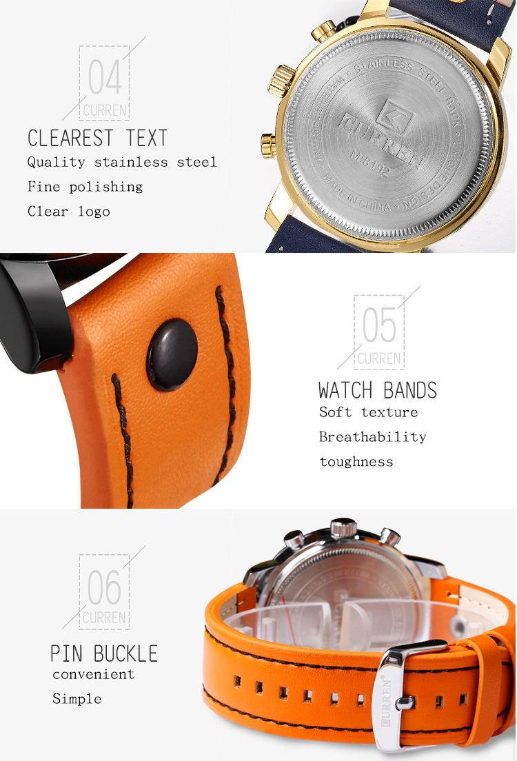curren 8192 quartz wrist watch
