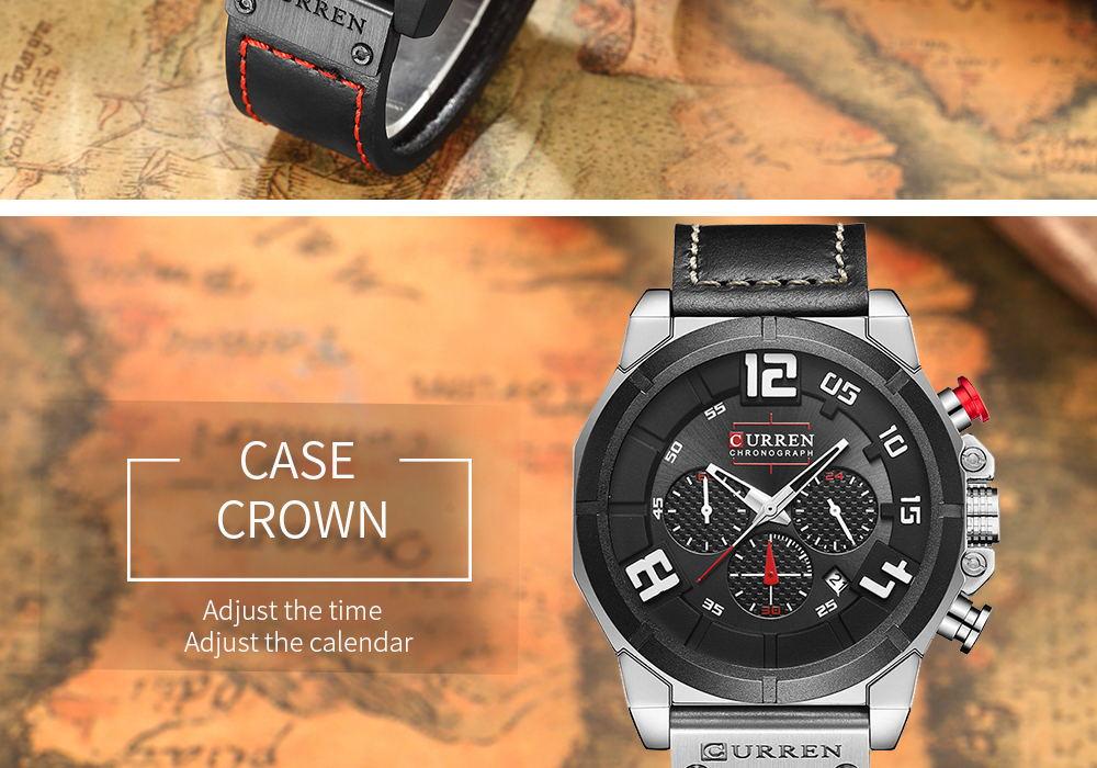 new curren 8287 quartz watch
