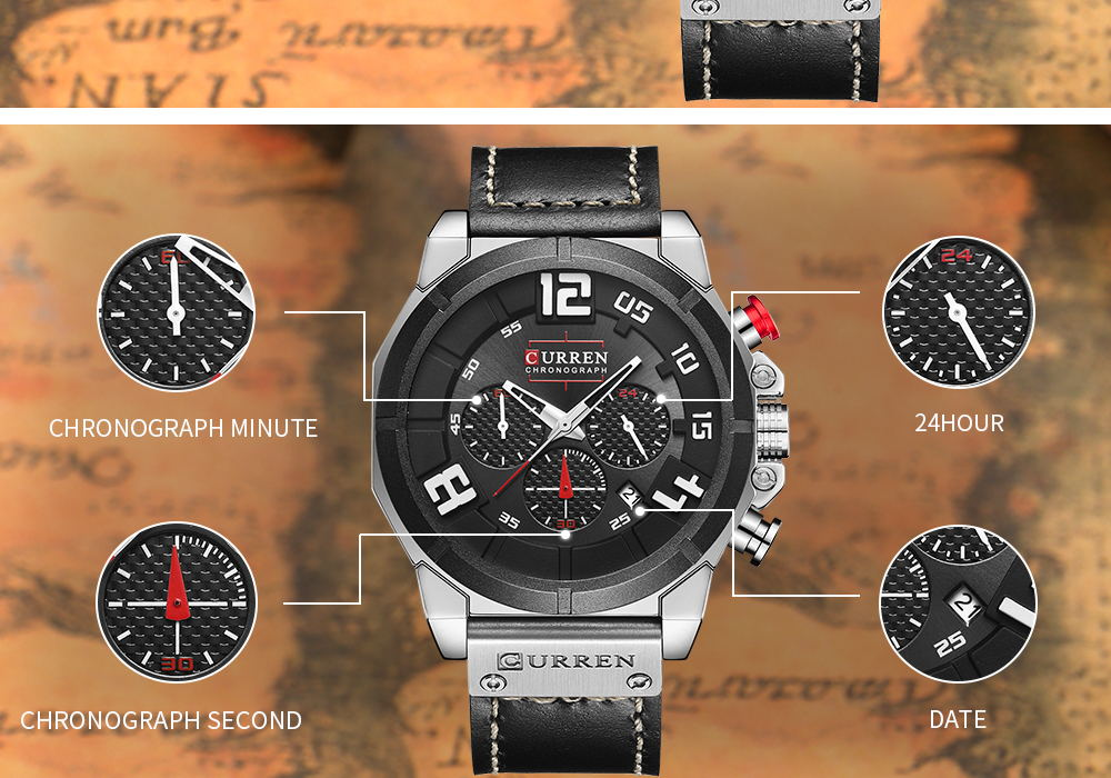 best curren 8287 quartz watch
