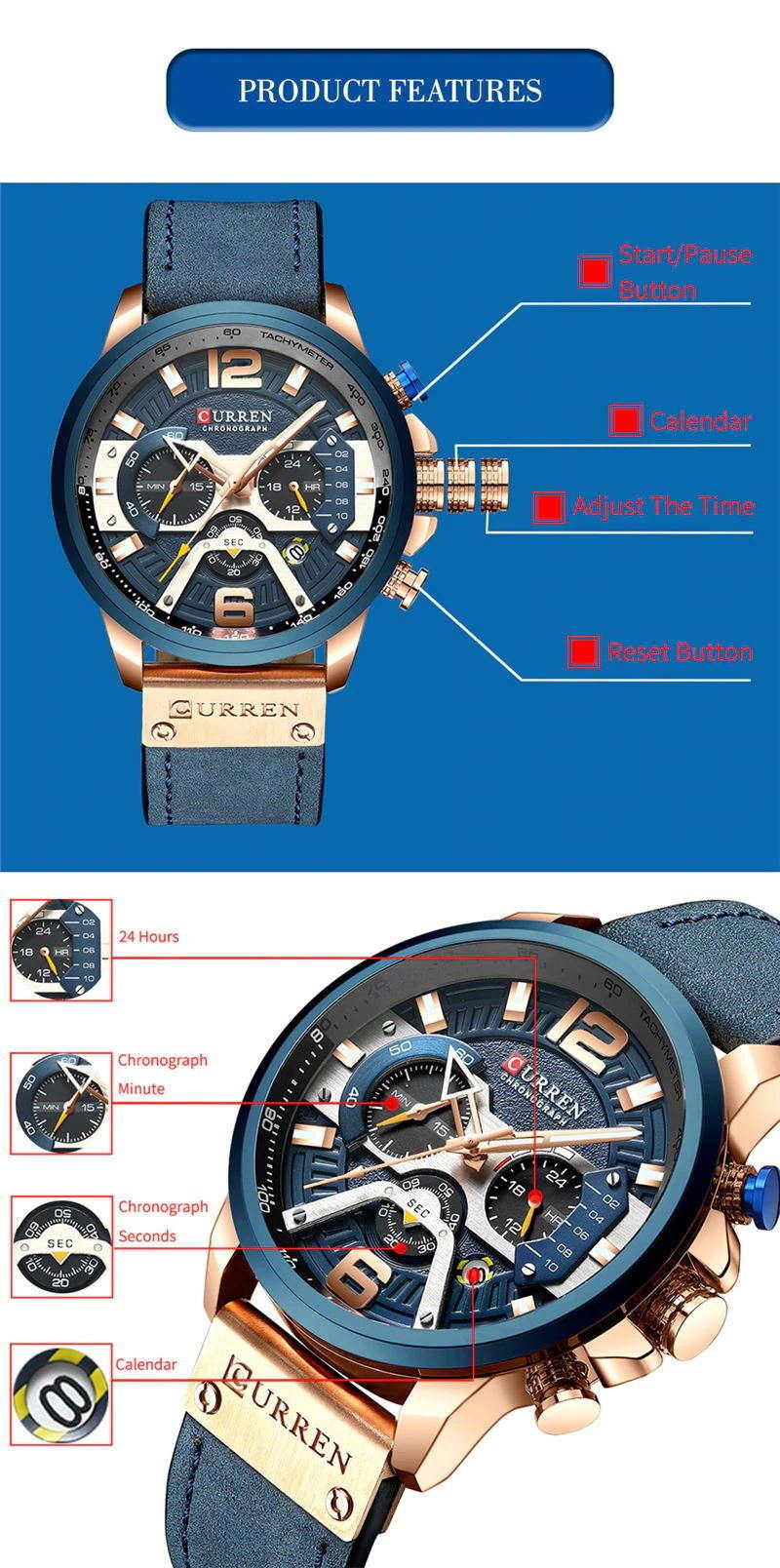 2019 curren 8329 sport wrist watch