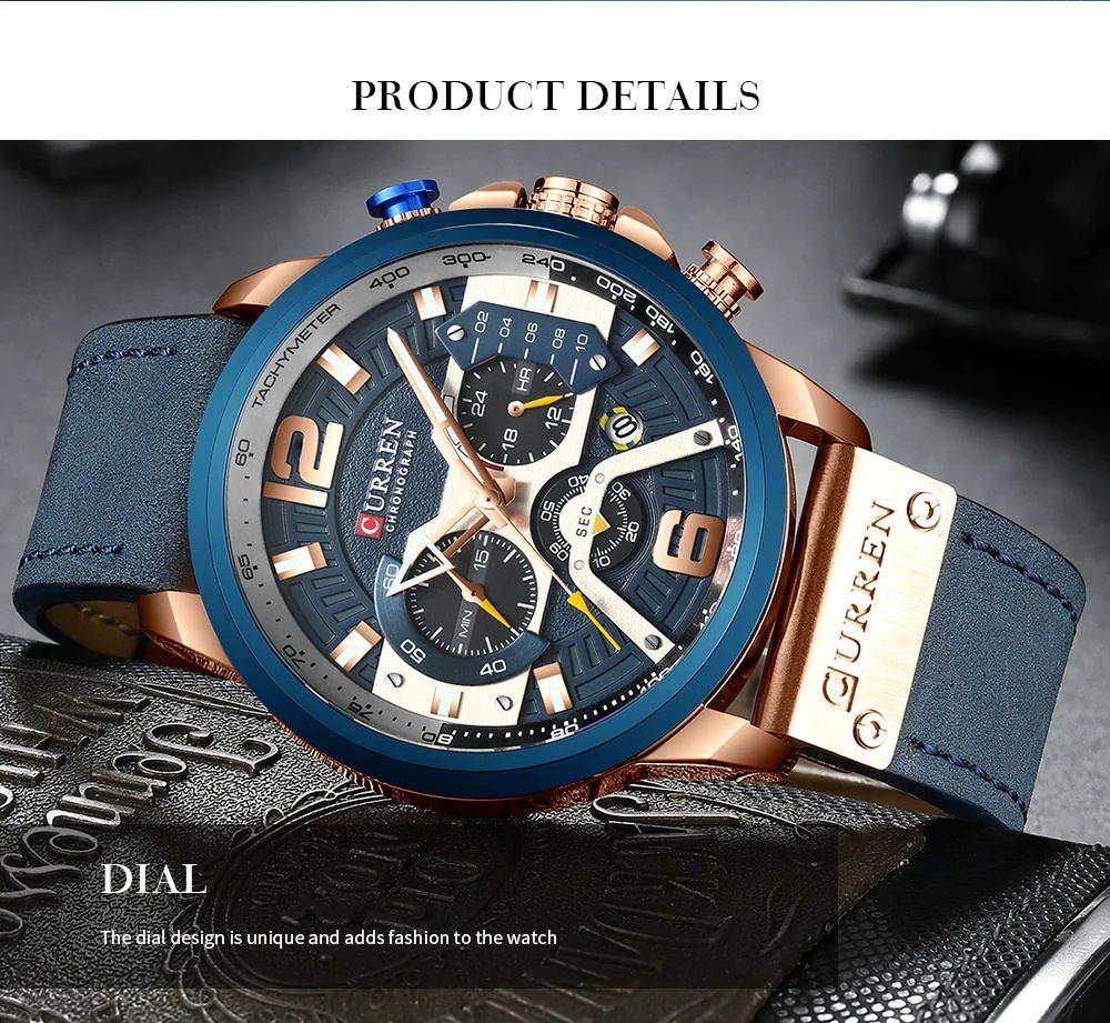new curren 8329 sport wrist watch