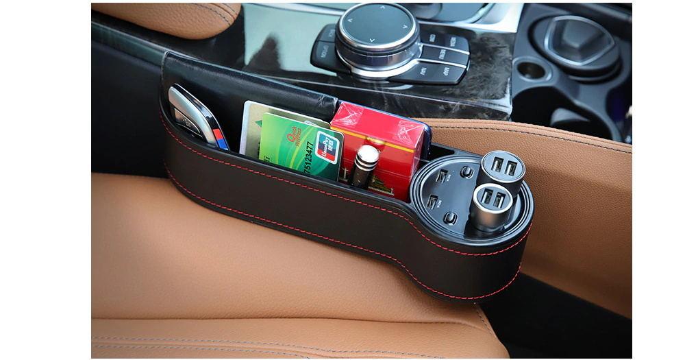 2019 car seat gap storage box usb charger