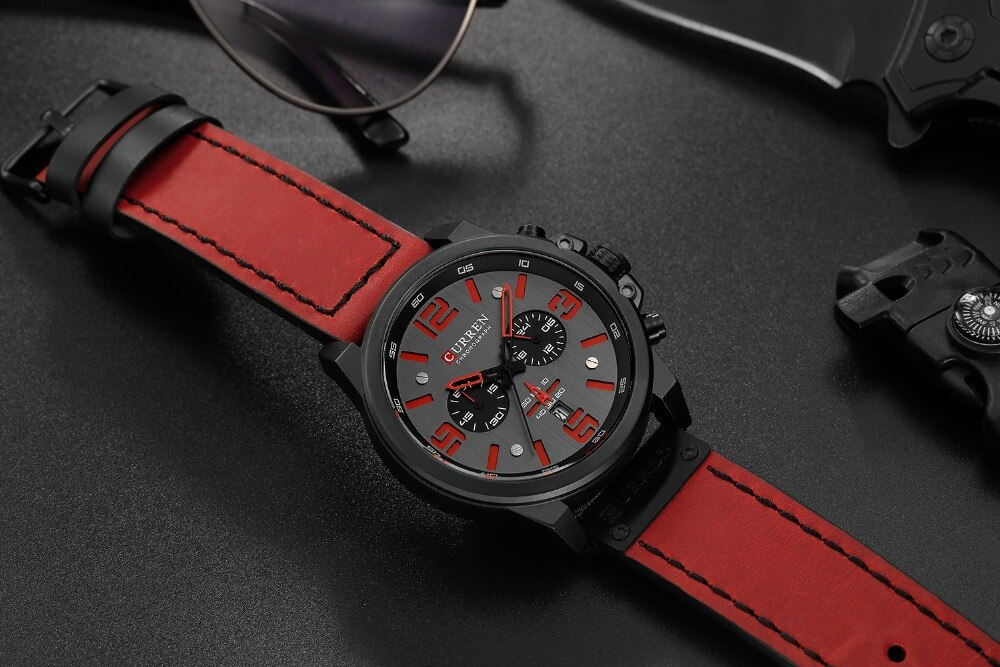 curren 8314 chronograph quartz watch