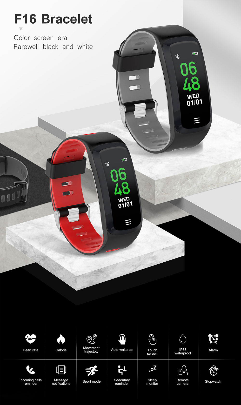 dt no.1 f16 smart wristband