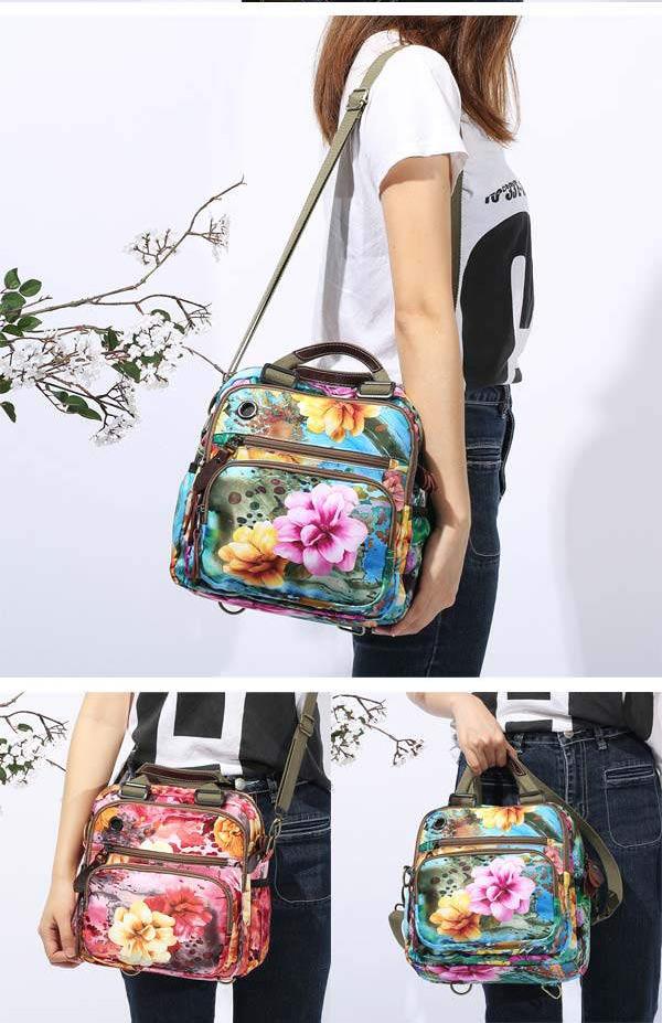 2019 flower pattern crossbody bag