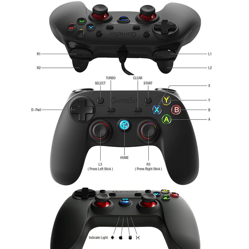 new gamesir g3w wired game controller