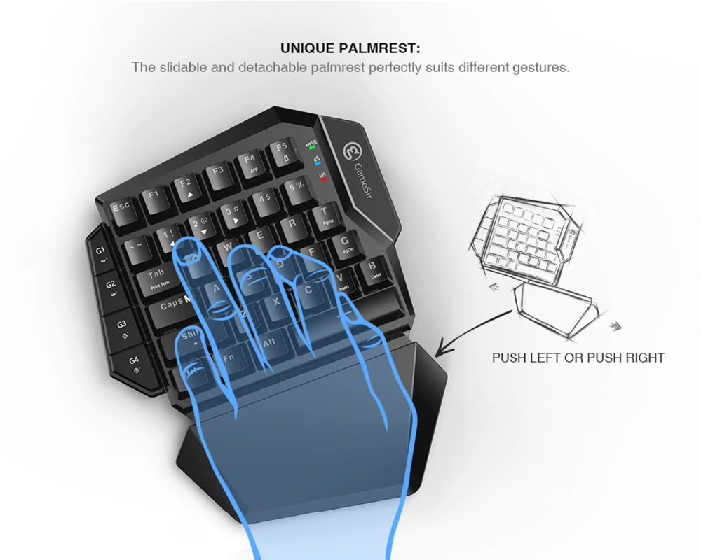 gamesir vx e-sports keypad and mouse combo adapter