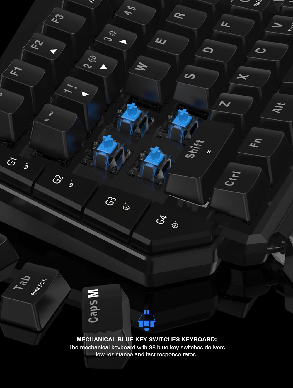 new gamesir vx e-sports keypad and mouse combo adapter