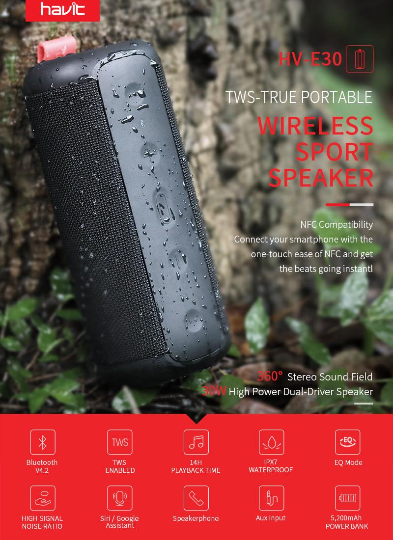havit e30 wireless bluetooth speaker