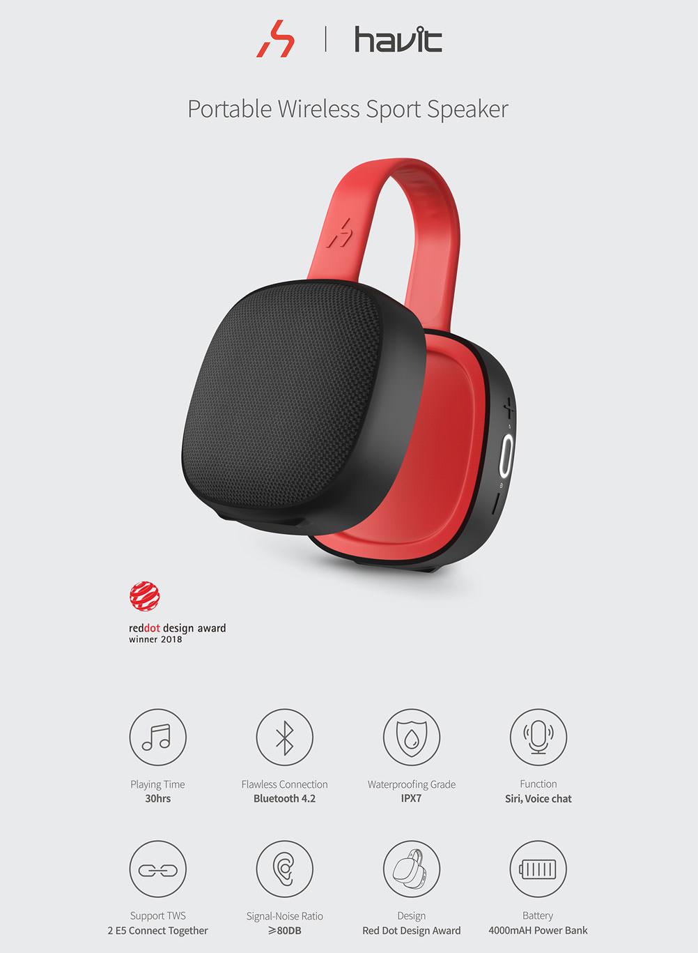 havit e5 wireless bluetooth speaker