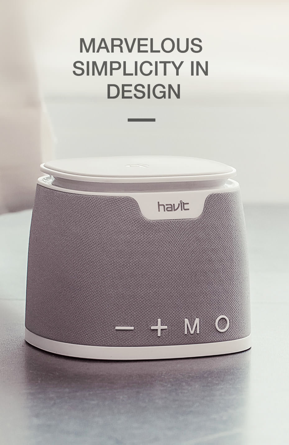 new havit m1 wireless qi charging bluetooth speaker