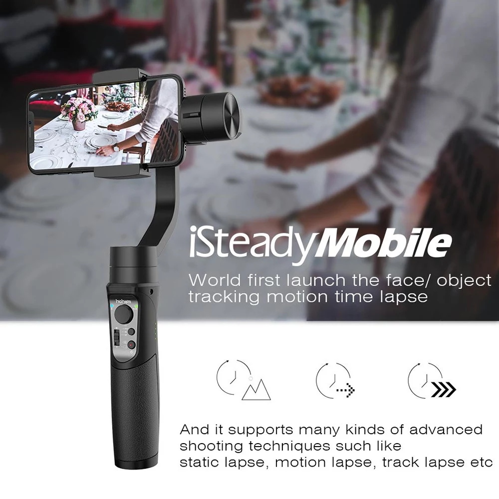buy hohem isteady mobile 3-axis handheld gimbal stabilizer