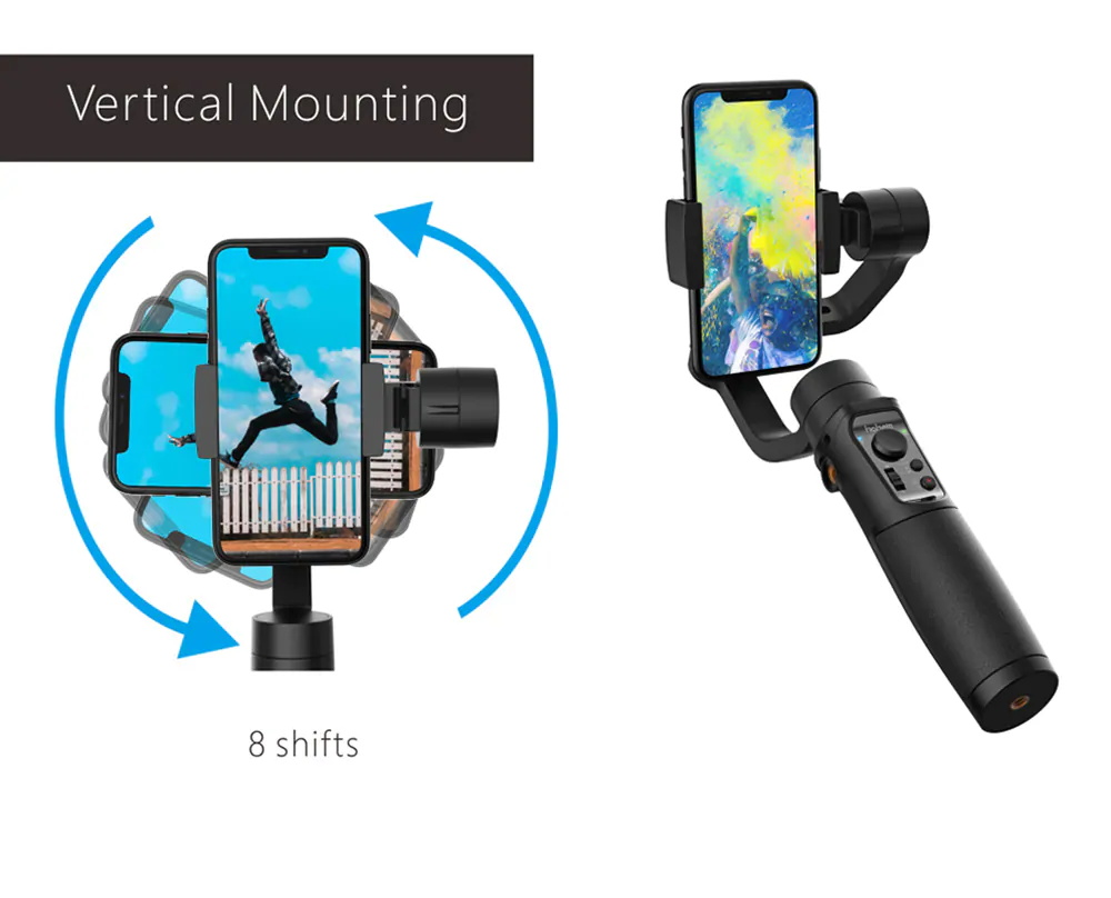 new hohem isteady mobile plus 3 axis handheld gimbal stabilizer