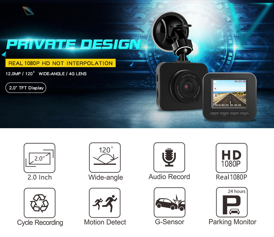 junsun q7 car dvr camera