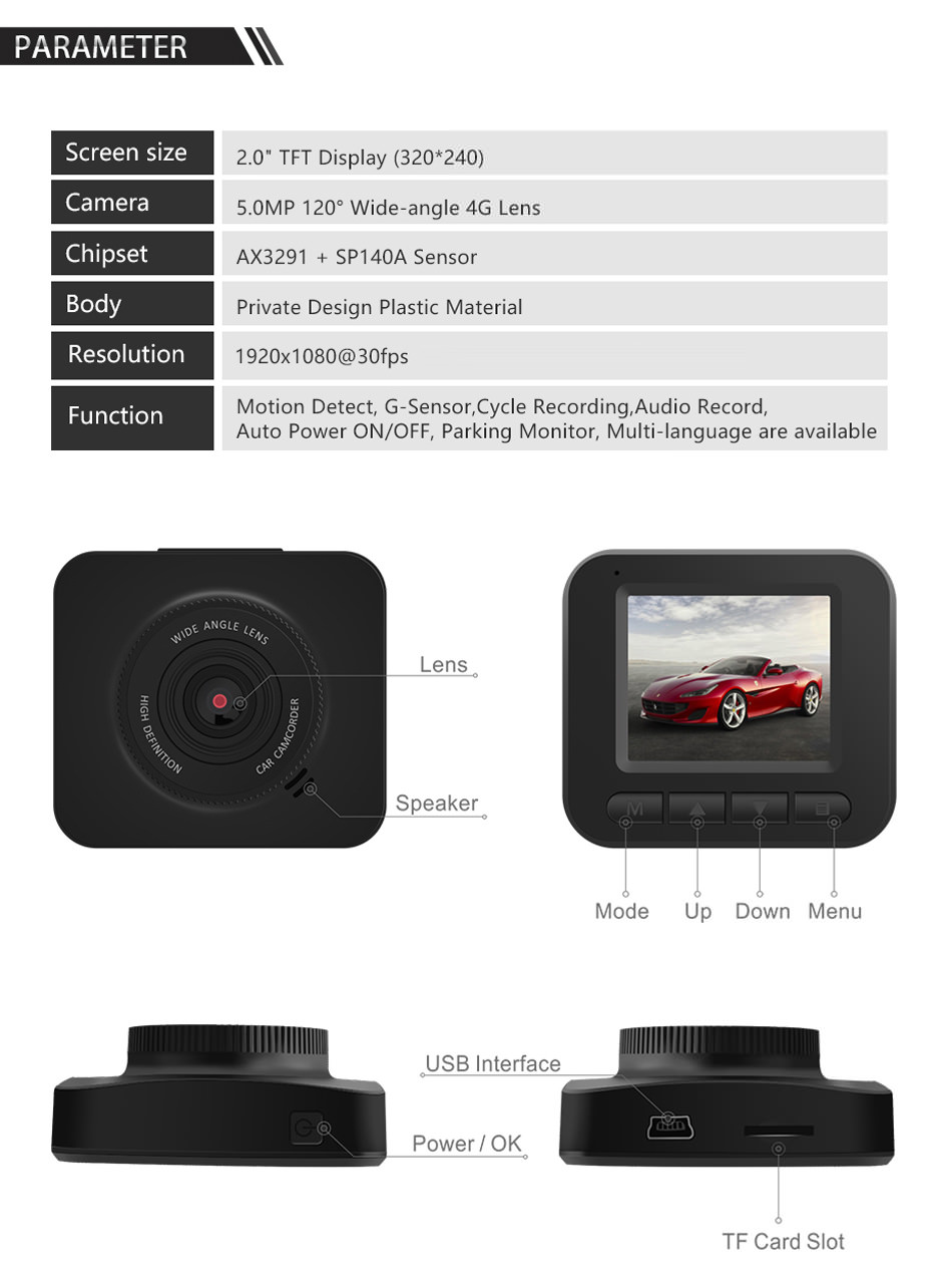 buy junsun q7 1080p car dvr camera