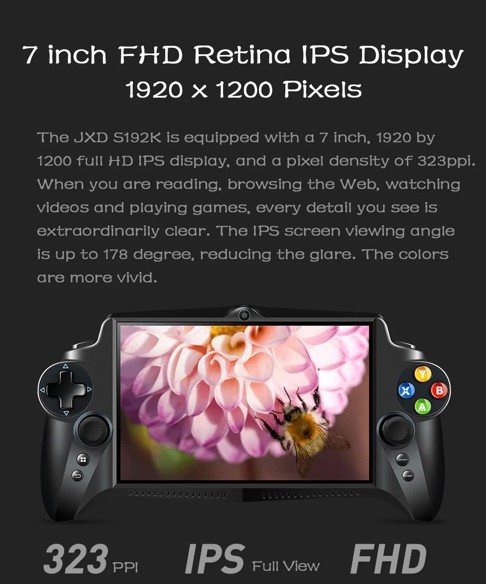 2019 jxd s192k game phablet gamepad