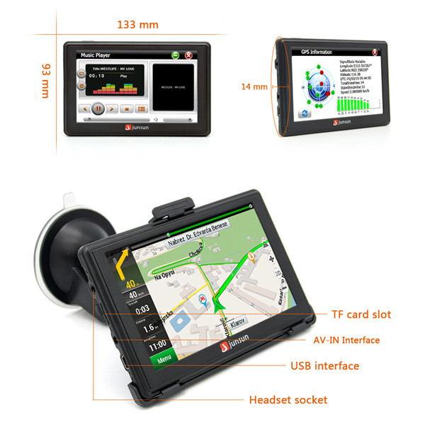 new junsun d100s car gps navigation