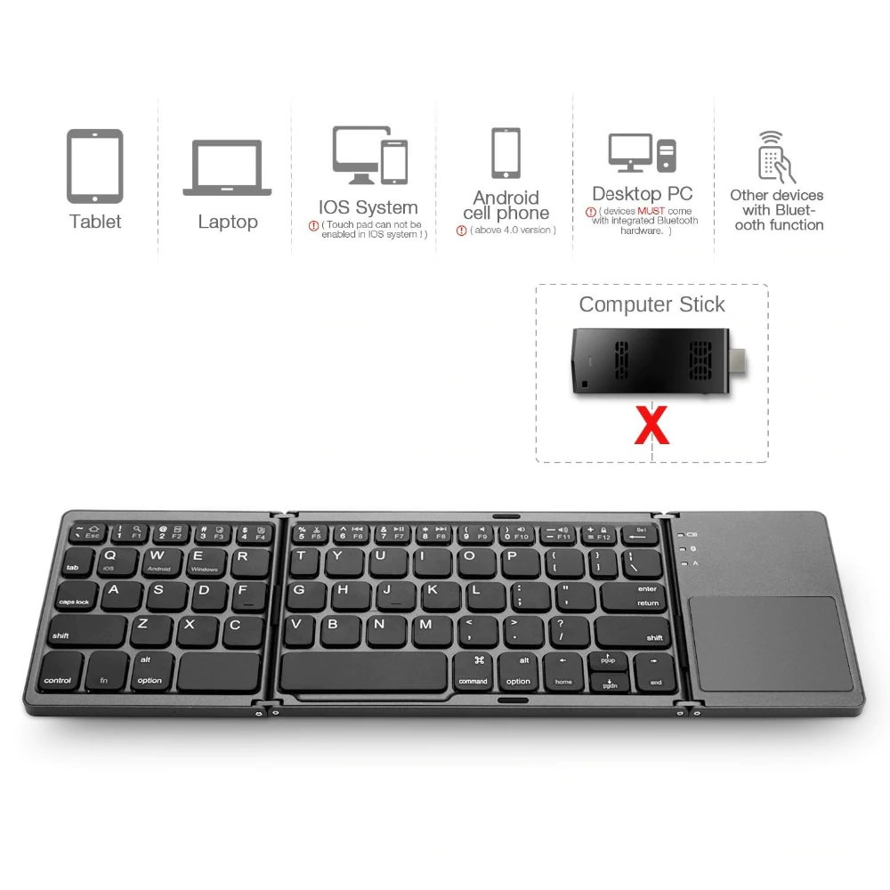 new mini foldable touch keyboard