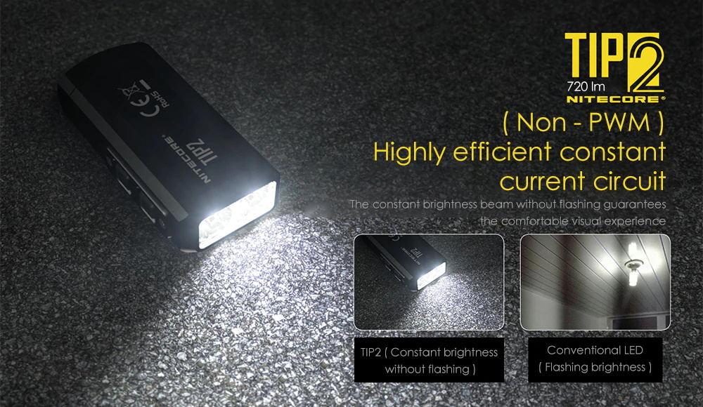 2019 nitecore tip2 flashlight
