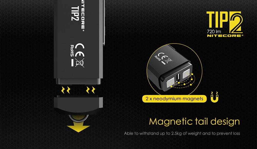 2019 nitecore tip2 720lm keychain flashlight