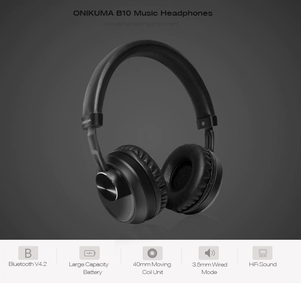 onikuma b10 bluetooth headphones