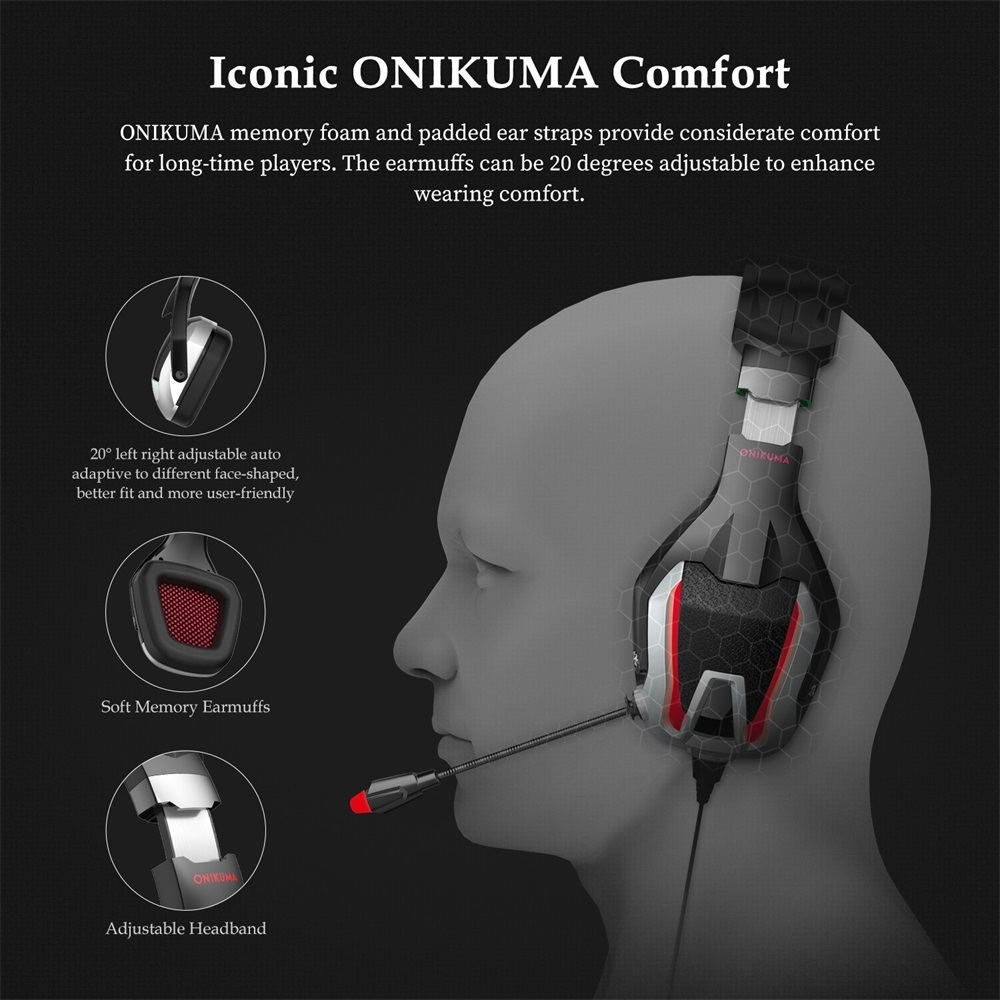 onikuma k12 gaming headset for sale